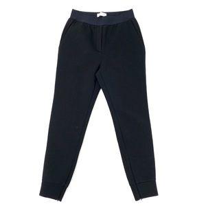 Everlane Black Ankle Zip Pants Elastic Waist